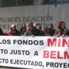 El Gobierno central pretende sancionar a vecinos y ediles de Belmez por acampar para reivindicar el pago del Plan Miner al municipio