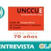"""""""Las cooperativas integrales agrupan a consumidores, productores y trabajadores bajo unos valores democráticos y solidarios"""". Ana Isabel Ceballos (UNCCUE)"""