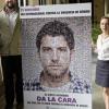 """Comienza en Málaga una nueva campaña contra el maltrato con el lema """"Si eres hombre DA LA CARA"""" en el que participan 22 personalidades conocidas de la ciudad"""