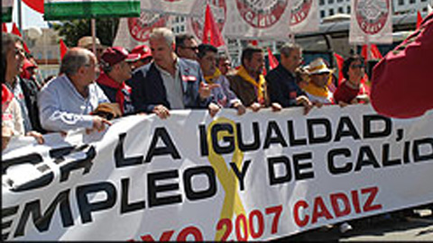 Los sindicatos convocan manifestaciones para mañana, primero de mayo, Día del Trabajo