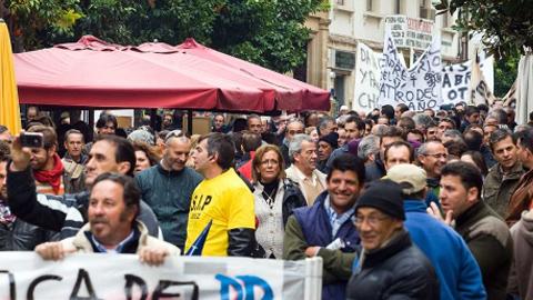 Los trabajadores municipales de Jerez de la Frontera convocan nuevas concentraciones y protestas por el ERE previsto en el Ayuntamiento