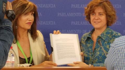 La Asociación de Transexuales de Andalucía entrega a IU el proyecto de Ley Integral para su debate y aprobación en el Parlamento