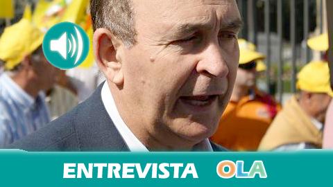 Eduardo López (COAG-A): «Hay que reducir las peonadas mínimas porque, por culpa de la sequía, hemos perdido 7 millones de jornales en Andalucía»