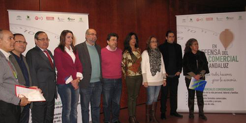 Junta de Andalucía, empresarios, sindicatos y consumidores lanzan una campaña conjunta en defensa del modelo comercial andaluz
