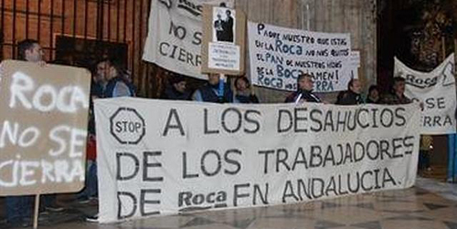 La empresa de sanitarios ROCA retira el expediente de regulación de empleo que afectaba a 228 empleados y que suponía el cese de la actividad de esta planta sevillana