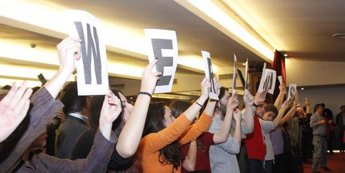 Estudiantes de la Universidad de Sevilla se encierran en el rectorado para exigir que se aumente el número de plazos para pagar las tasas de matrícula