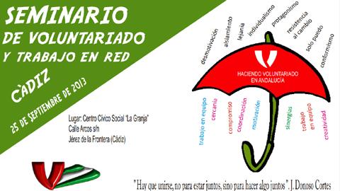 La localidad gaditana de Jerez de la Frontera celebra un seminario sobre voluntariado con vistas a la creación de la Red Gaditana del Voluntariado
