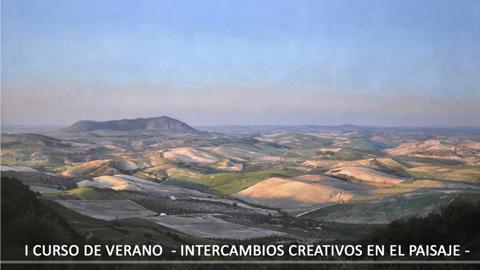 La Biblioteca Municipal de la localidad sevillana de Montellano expone la muestra pictórica «Intercambios creativos en el paisaje» realizada por alumnos y licenciados en Bellas Artes