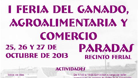 El municipio sevillano de Paradas presenta el catálogo de actividades de su primera edición de la Feria del Ganado, Agroalimentaria y Comercio