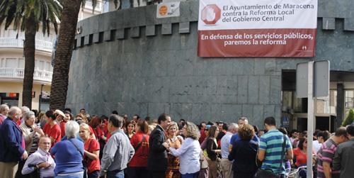 Más de 300 personas se congregan en la localidad granadina de Maracena contra la Reforma de la Administración Local