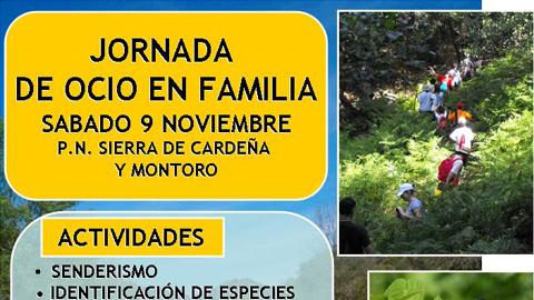 Abierta la inscripción gratuita para talleres medioambientales familiares en el Parque Nacional de la Sierra de Cardeña y Montoro en la provincia de Córdoba