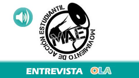 «Nos sobran los motivos para salir a la huelga después de los recortes en becas y el aumento de las tasas académicas», Sergio Moreno, del Movimiento de Acción Estudiantil