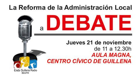 El municipio sevillano de Guillena celebra un debate público en su emisora local, Onda Guillena Radio, sobre la Reforma de la Administración Local