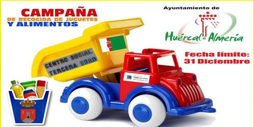 La localidad almeriense de Huércal de Almería pone en marcha una campaña solidaria de recogida de juguetes y alimentos