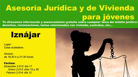 La localidad cordobesa de Iznájar ofrece asesoría jurídica y de vivienda para jóvenes totalmente gratuita mediante un programa de la Mancomunidad de la Subbética