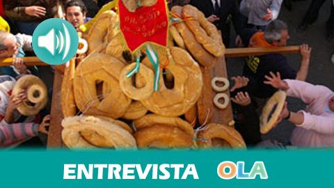 «La fiesta de los Roscos consiste en lanzar roscos a los santos patrones de la localidad desde los balcones», Mario Galera, concejal de Deportes, Juventud y Festejos Olula del Río (Almería)