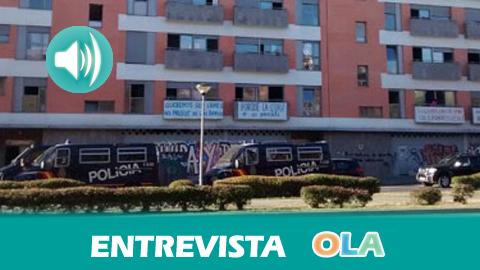 «La Junta ha propuesto al Ayuntamiento que ponga las 16 viviendas que faltan y la administración regional paga el alquiler y el alcalde ha dicho que no», Manoli Cortés, vecina de la Corrala Utopía