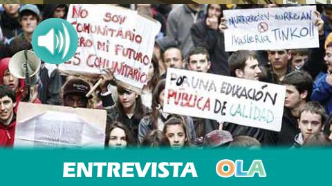 «Lo único que ha traido el Plan Bolonia es la privatización de la universidad y el endurecimiento del acceso a las becas», Laura Calderón, portavoz del Sindicato de Estudiantes en Andalucía