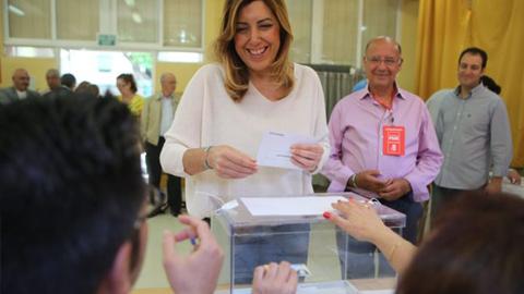 ELECCIONES EUROPEAS: Los cabezas de lista a estas elecciones europeas que ya han acudido a las urnas hacen un llamamiento al electorado para que acuda a votar