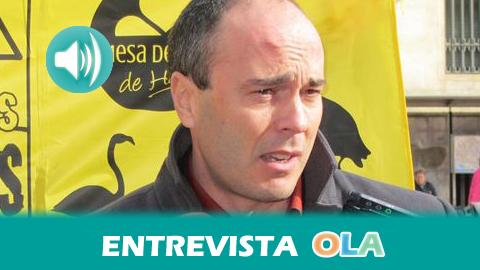 «Fertiberia fue condenada a regenerar la zona afectada por los fosfoyesos de las marismas de Huelva porque han sido depositados de forma irregular», Rafael Gavilán, portavoz de la Mesa de la Ría