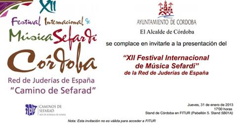 El XIII Festival de Música Sefardí de Córdoba se celebra del 9 al 14 de junio, conmemorando el 700 aniversario de la Sinagoga de Córdoba con talleres culturales, gastronomía, conferencias y más actividades
