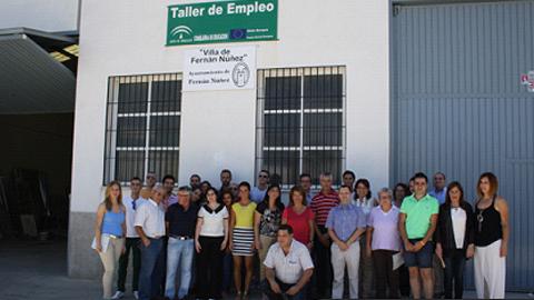 Clausurado el Taller de Empleo Villa de Fernán Núñez de cerrajería artística y mantenimiento de instalaciones urbanas que ha dado formación a 20 alumnos durante 12 meses