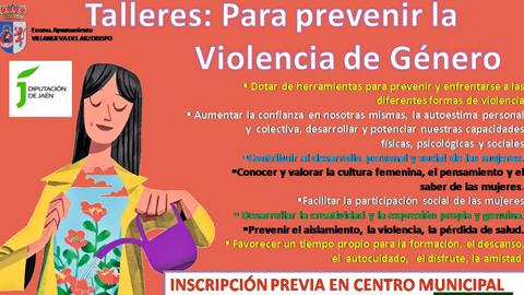 """El Centro Municipal de Información a la Mujer de Villanueva del Arzobispo abre el plazo de matrícula para aquellas personas que deseen asistir al taller """"Para Prevenir la Violencia de Género"""""""