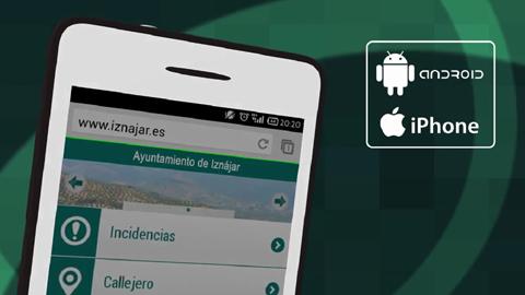 """Iznájar lanza la aplicación """"Web móvil Iznájar"""" para acercar el Ayuntamiento y sus servicios a los vecinos y vecinas del municipio a través de sus dispositivos móviles"""