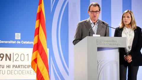 La fiscalía ultima una querella contra el presidente catalán Artur Mas y su vicepresidenta Joana Ortega por el 9-N