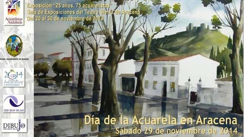 Aracena celebra este sábado el Día de la Acuarela con exposiciones, conferencias y pinturas al aire libre
