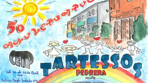 El colegio Tartessos de Pedrera celebra en este año 2015 su 50 aniversario con un amplio programa de actos del 20 al 25 de abril, entre los que destacan un encuentro de antiguos profesores y una exposición fotográfica
