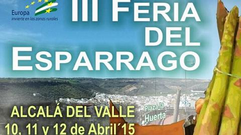 La localidad gaditana de Alcalá del Valle celebra el próximo fin de semana, 11 y 12 de abril, su tercera 'Feria del Espárrago' para homenajear al producto más importante de la localidad: el espárrago verde