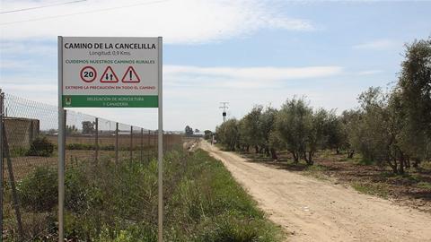 Una veintena de caminos de la Red Viaria Rural de Los Palacios y Villafranca cuenta con nueva señalización sobre su longitud y denominación gracias a un proyecto enmarcado dentro del Plan Emple@ Joven