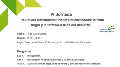 El Centro de Apoyo al Desarrollo Empresarial de Benalúa acoge mañana la 'IV Jornada sobre Cultivos Alternativos Plantas Micorrizadas' dedicada, en esta edición, a la Trufa Negra y la Terfezia
