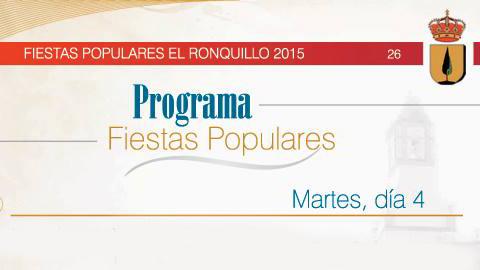 El Ronquillo publica el programa de sus Fiestas Populares que darán comienzo la primera semana de agosto con múltiples actividades para todas las edades, tales como maratón, conciertos y distintos concursos