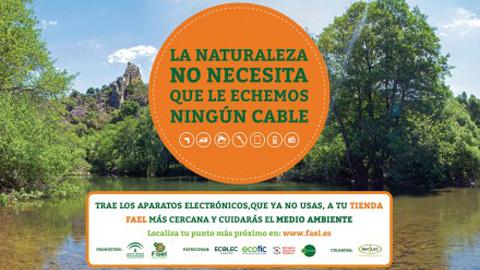"""El municipio sevillano de Morón de la Frontera se adhiere a la campaña """"La naturaleza no necesita que le echemos ningún cable"""" que fomenta el reciclado de pequeños electrodomésticos sin vida útil"""