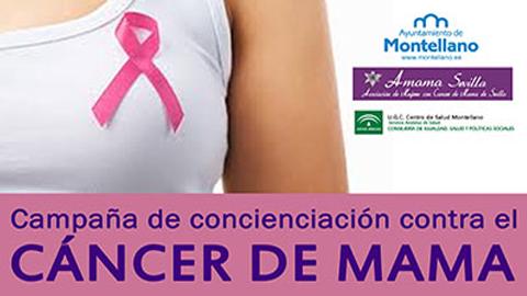 El municipio sevillano de Montellano presenta su programa de actos para conmemorar el Día Mundial contra el Cáncer de Mama, el próximo 30 de octubre, con reparto de lazos rosas, una marcha a pie y una conferencia