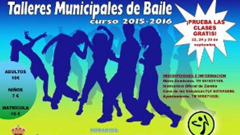 Las Cabezas de San Juan presenta sus talleres municipales de baile para personas adultas e infancia, que se impartirán en la Casa de la Música y el Centro Cívico El Huerto, divididos en varias modalidades