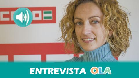 """""""La Ley de Prevención de Riesgos Laborales es el marco normativo adecuado pero el fracaso se debe a la poca aplicación y al incumplimiento"""", Nuria Martínez, secretaria de Salud Laboral de CCOO Andalucía"""