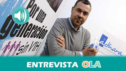 """""""Se han dado pasos atrás en materia de sensibilización e información sobre el VIH/SIDA, ya no hay sensación de riesgo sobre todo entre los más jóvenes"""", Jesús García Carrillo, vicepresidente de la ADHARA"""