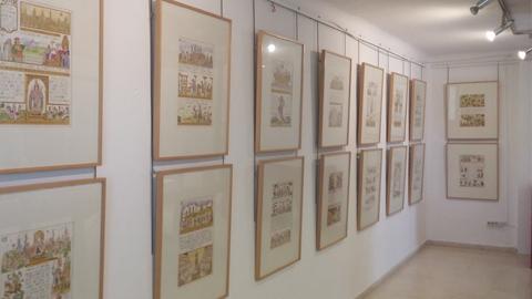 Iznajar acoge la exposición pictórica 'Democracia y Participación' que representa, a través de dibujos, desde los orígenes de la democracia hasta la actualidad en la Casa de la Juventud de la localidad