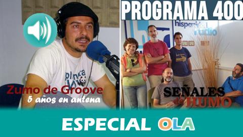 Los espacios radiofónicos de la Onda Local de Andalucía 'Zumo de Groove' y 'Señales de Humo' celebran su aniversario cumpliendo cinco años en antena y 400 programas de emisión, respectivamente