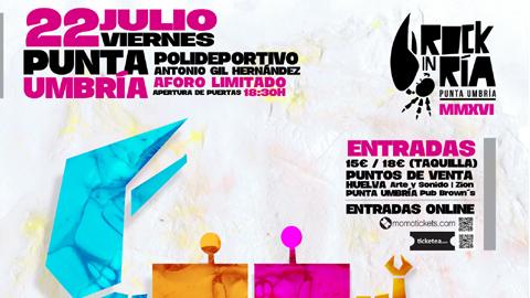 Punta Umbría publica su programación de festejos y eventos culturales para el periodo veraniego llena de actuaciones musicales entre las que destacan la VII edición de Rock in Ría y un festival de rock andaluz