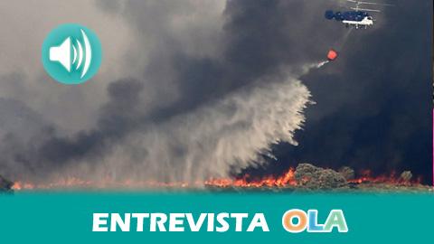 Extinguido el fuego de El Castillo de las Guardas tras quemar 1.845 hectáreas, 300 hectáreas más de las contabilizadas en todos los incendios de 2016 en Andalucía