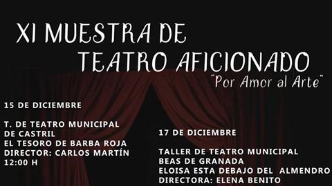 Benalúa fomenta la cultura entre sus vecinos y vecinas a través de la XI Muestra de Teatro aficionado: ''Por amor al arte'' con la participación de diferentes agrupaciones locales