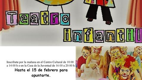 Los niños y niñas de entre 8 y 12 años de Punta Umbría podrán participar en un taller municipal de teatro infantil que comenzará en el mes de febrero