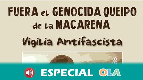 Una vigilia frente al Arzobispado pide que se saquen los restos del golpista Queipo de Llano de la basílica de la Macarena