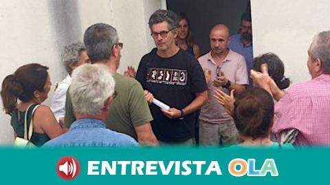 Juan Clavero cree que el montaje de su detención tiene que ver con la denuncia que ha hecho de especulación en la venta de fincas en la Sierra de Cádiz