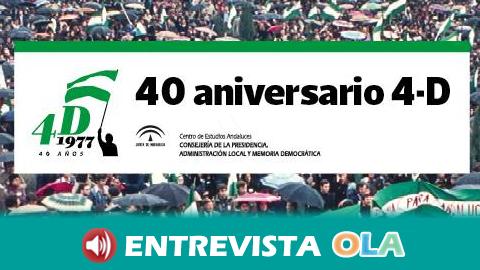 """""""Andalucía ha desaprovechado el capital político que supuso el 4 de diciembre de 1977"""", Javier Aroca, Centro de Estudios Andaluces"""