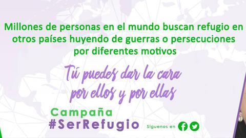 Aracena se suma a la campaña #SerRefugio para sensibilizar sobre la situación de las personas refugiadas